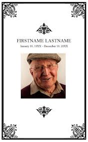 template for memorial service program free memorial service program template flair photo