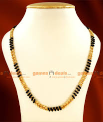 ckmn21 lg 30 inches gold plated two line mangalsutra karugamani