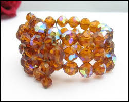 amber bead bracelet images Amber aurora borealis crystal bead wrap bracelet vintage just jpg