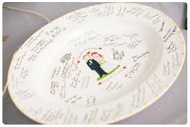 guest signing plate wedding guest book ideas wedding style ideas encore events