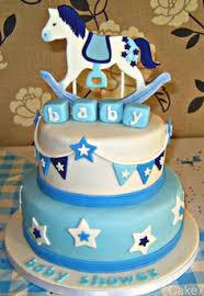 welcome baby rocking horse cake celebration fondant cakes