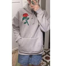 aliexpress com buy rose embroidery sweatshirt women men hoodies