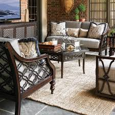 Deep Seating Patio Furniture Sets - tommy bahama black sands 5 person aluminum patio deep seating set