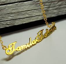 name charm necklace name charm necklace gold personalized nameplate necklace