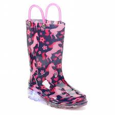 light up rain boots western chief glitter horse lighted girls light up waterproof rain