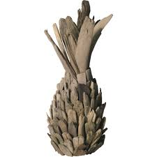 dimond home natural hand made driftwood sculpture pineapple wall