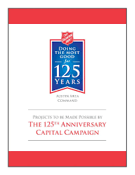 the 125th anniversary capital campaign the salvation army of austin