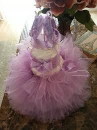 three tier lavender ballerina diaper cake tutu baby shower