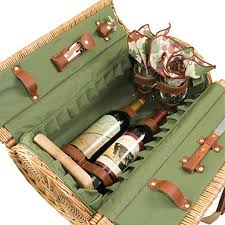 wine picnic baskets picnic time verona insulated wine basket with wine