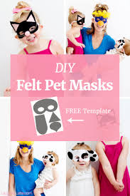 laughing latte felt pet masks free templates a fun diy craft