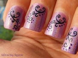 easy dotted swirls nail art perfect nails for valentines day 2352