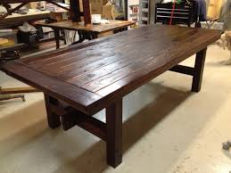 Great Kitchen Tables by New Lumber Dining Table Stained For The Home Pinterest