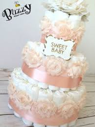 Shabby Chic Baby Shower Cakes by Diaper Cake Shabby Chic Burlap And Lace By Itsupintheattic