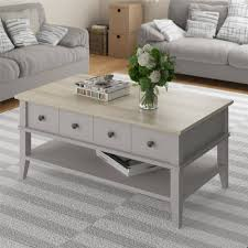 Walmart Furniture Moving Sliders by Ameriwood Home Newport Coffee Table Light Gray Light Brown