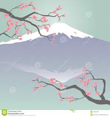Cherry Blossom Map Mt Fuji And Cherry Blossoms Royalty Free Stock Photos Image