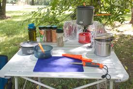 how to create a camp kitchen
