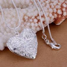 aliexpress necklace pendants images Elegant silver plate chain necklace openable heart necklace jpg