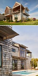 13 examples of modern houses with wooden shingles contemporist