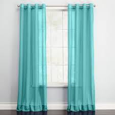Turquoise Sheer Curtains Curtain Turquoise And Brown Living Room Furniture Teal Sheer