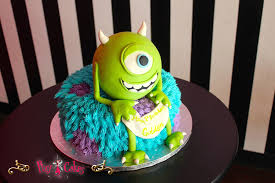 birthday cake boy monsters inc 2 tier fondant figurines 1