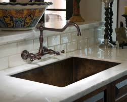 kitchen wall faucets cabinets mediterranean kitchen wall mount faucets drop in sink