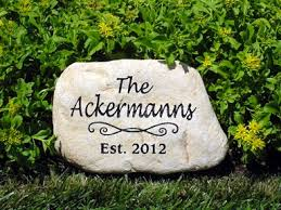 personalized garden stones personalized memorial garden stones and engraved river rock garden