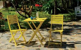 Yellow Bistro Chairs Impressive Yellow Bistro Table And Chairs With Best 25