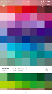 ugliest color hex code turn your pictures into color palettes with pantone s new app