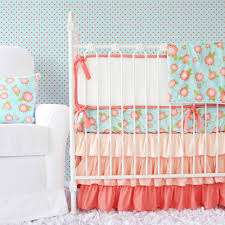 light coral u0026 white crib bumpers caden lane