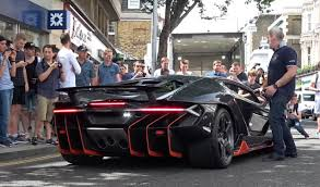lamborghini centenario lamborghini centenario arrives and revs in london causes chaos