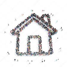 people shape house icon u2014 stock photo tai11 102643778
