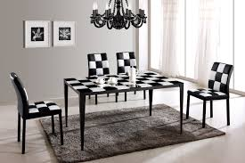 Black And White Dining Room Sets Black And White Dining Room Chairs New Grousedays Org Inside 14