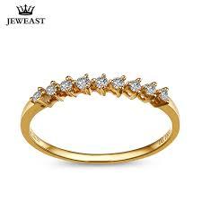model berlian 18 k emas putih emas kuning emas berlian cincin pernikahan cincin
