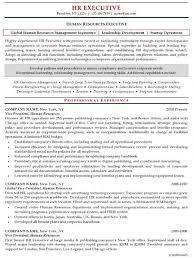 hr resume objective resume sample human resources executive human