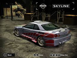 nissan skyline 2005 need for speed most wanted nissan skyline r34 gt r v spec 1999