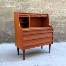 danish mid century modern teak secretary desk mementosbcn