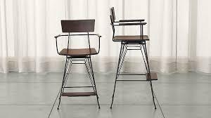Bar Stools That Swivel | elston swivel bar stools crate and barrel