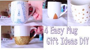 coffee mug ideas 4 easy mug gift ideas diy youtube