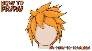 spiky anime hairstyles how to draw anime hair how to draw manga hair easy step by step