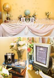 travel themed table decorations a sweet vintage glam travel inspired wedding hostess with the