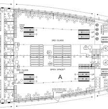 titanic floor plan did third class passengers on the titanic have access to an outside