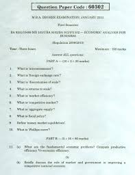 january 2013 question paper economic analysis for business anna
