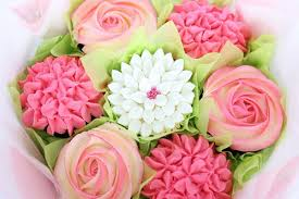 cupcake flowers small cupcake bouquet pink unique customisable edible gifts