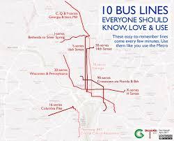 washington dc metrobus map ten lines around washington dc everyone should how to