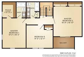 2 Bedroom Duplex Floor Plans by Apartments For Rent In Woodbridge Township Nj Hillside Gardens
