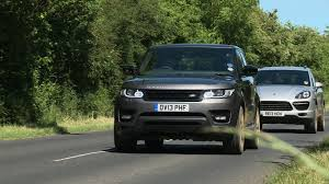 porsche cayenne or range rover sport range rover sport vs porsche cayenne turbo tested on road