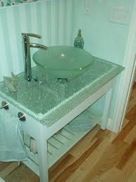 Shattered Glass Table by Glass Vessel Sink With Shattered Top Interiors Pinterest