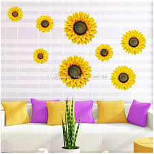 home decor 3d stickers 3d sunflower wall stickers home decoration stickers sun flower
