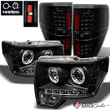2012 f150 tail lights amazon com for 2009 2014 ford f150 black halo projector headlights