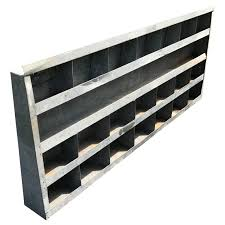 Large Bookshelves For Sale by Large Vintage Galvanized Wall Shelf For Sale At 1stdibs